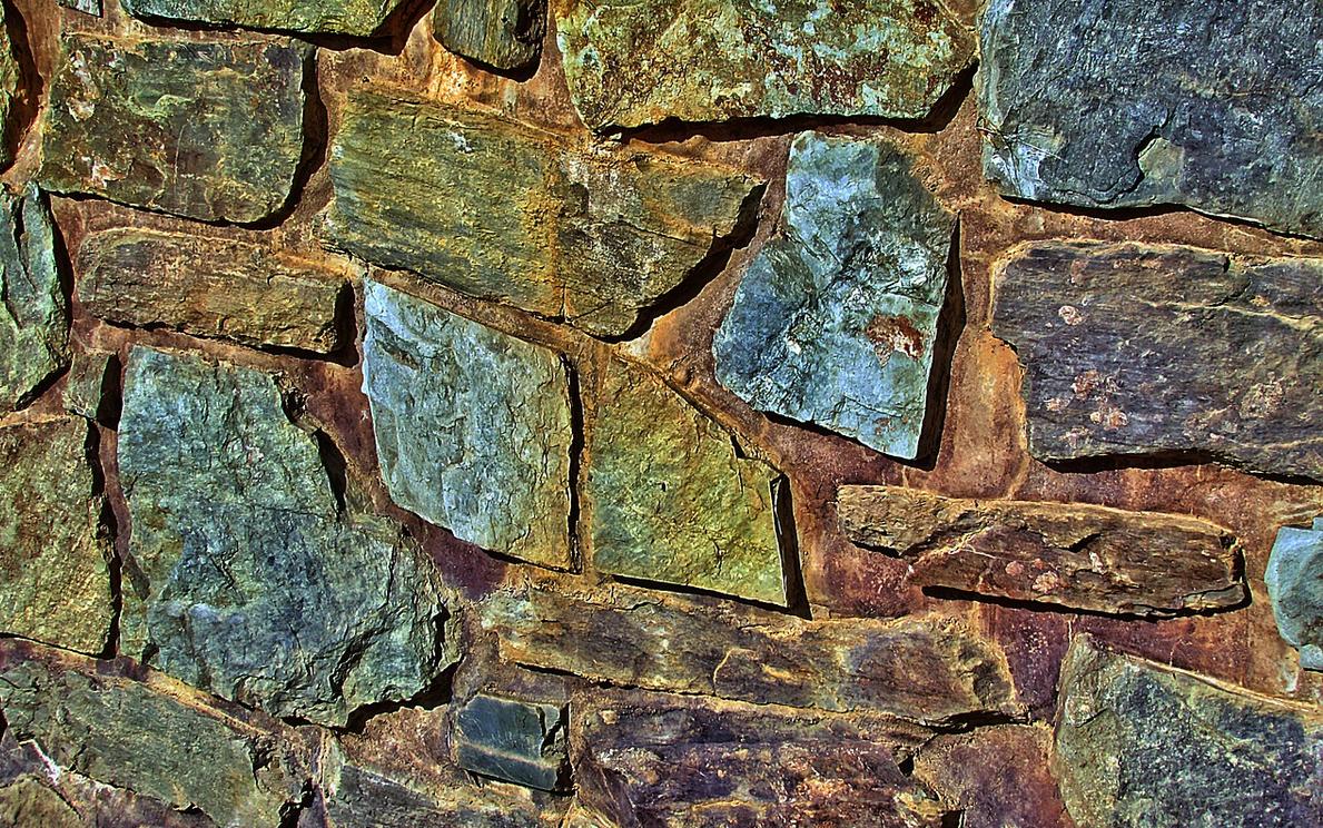Bunte Mauersteine